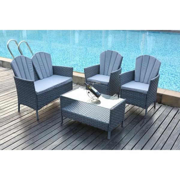 Admirable Yakoe 4 Piece Rattan Garden Furniture Set Dreams Outdoors Home Interior And Landscaping Ferensignezvosmurscom