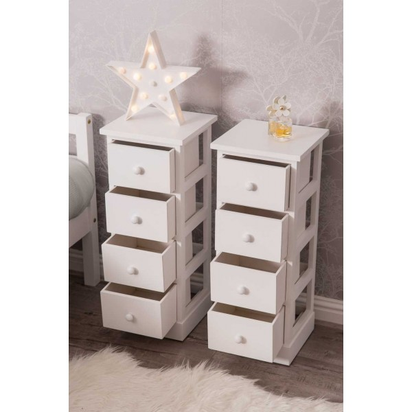 new product bcaa0 2fa77 2 X 4 Drawer Pair Slim Tall Bedside Tables | Dreams Outdoors ...