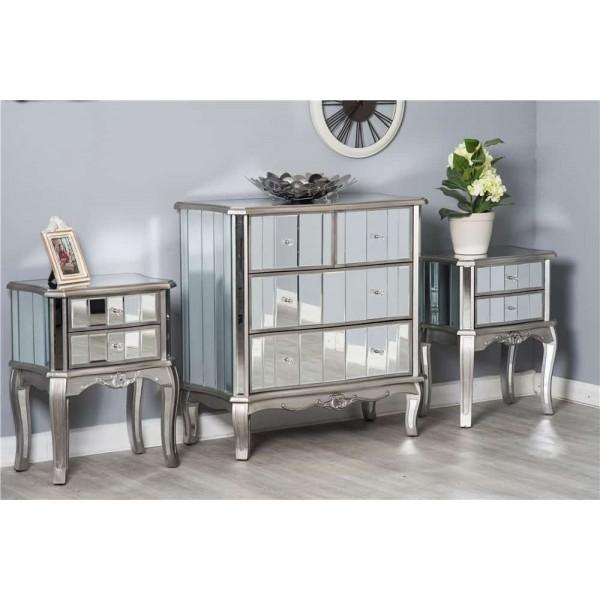 Mirrored Bedroom Furniture Set, Mirrored Furniture Set