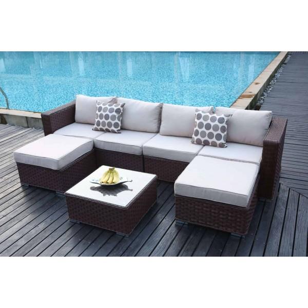 Yakoe Papaver 6 Seater Outdoor Sofa Set Dreams Outdoors
