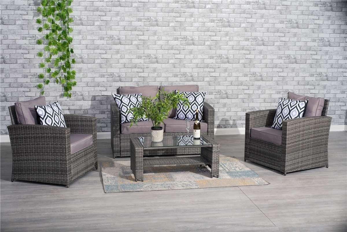 Yakoe 4 Seater Rattan Sofa Set Furniture Dreams Outdoors