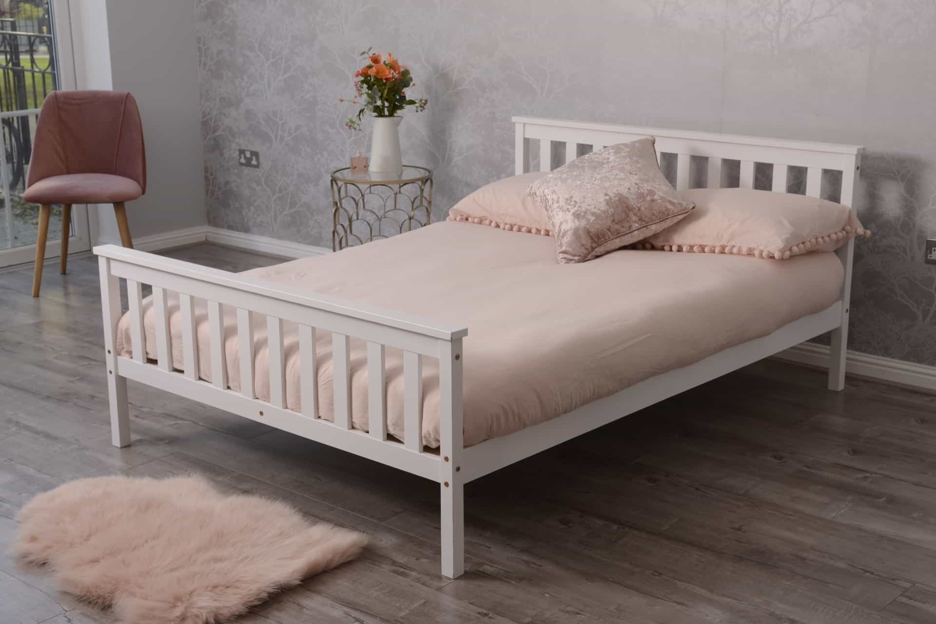 Double pine wood bed white dreams outdoors furniture dreams outdoors
