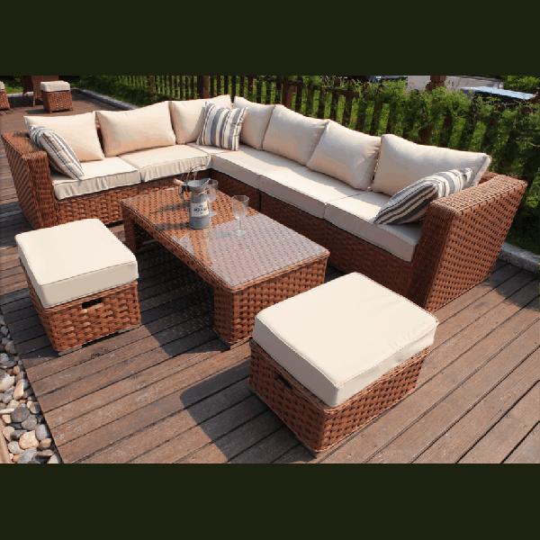 Large Yakoe Papaver 8 Seater Corner Sofa Set Dreams Outdoors