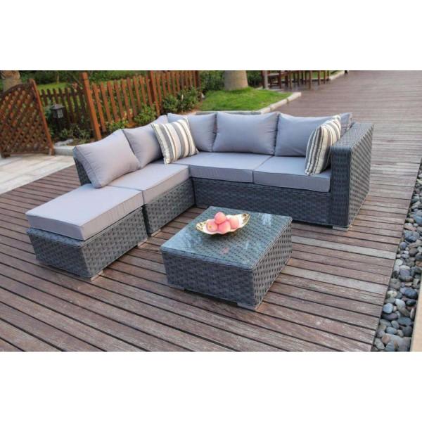 Yakoe Papaver 5 Seater Corner Sofa Set Dreams Outdoors