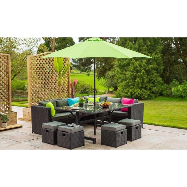 Aldi Corner Rattan Effect Sofa Cover: 10 Seater Rattan Cube Sofa Set