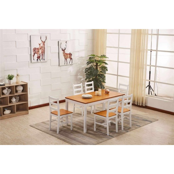 Large dinging table + 6 chairs