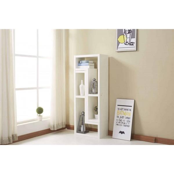 white modern tv cabinet furniture stand 2 l shaped shelves. Black Bedroom Furniture Sets. Home Design Ideas