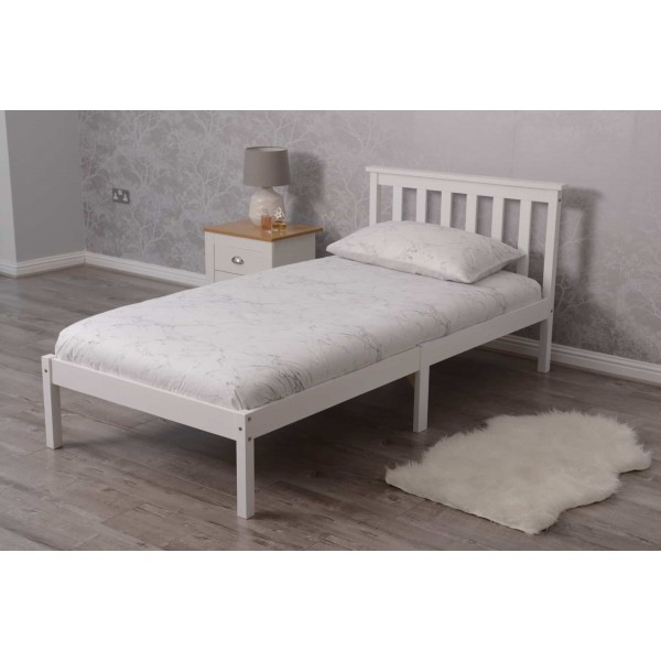 Ihram Kids For Sale Dubai: White Pine Wood Single Bed Frame