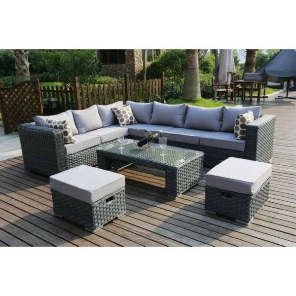 Yakoe Papaver 8 Seater Corner Sofa Set Dreams Outdoors