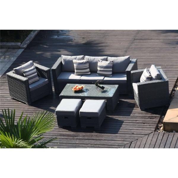 7 Seat Rattan Corner Sofa Set